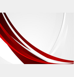 Red grey wavy corporate abstract background vector
