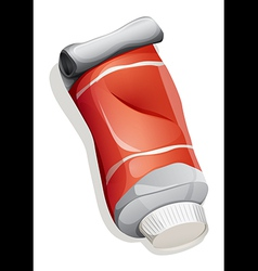 Red tube vector