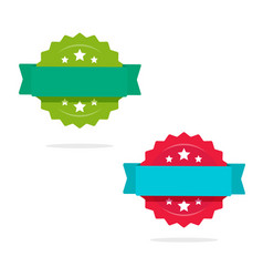 rosette with ribbon icons set isolated on vector image