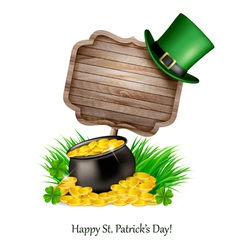 Saint Patricks Day background with a sign clover vector image