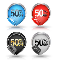 sale banners pointer style set vector image