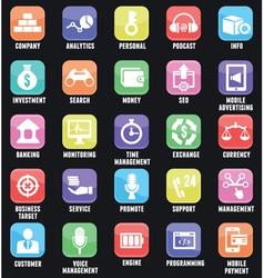 Set social media buttons for design vector