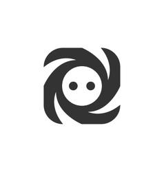 Socket Icon logo on white background vector