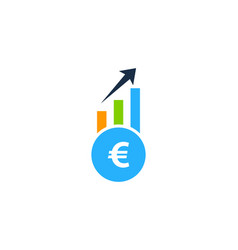 stair stock market business logo icon design vector image