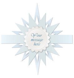 Star frame greeting card decor holiday paper vector