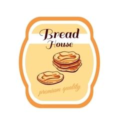 Sticker Bread House vector