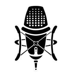 studio microphone logo vector image