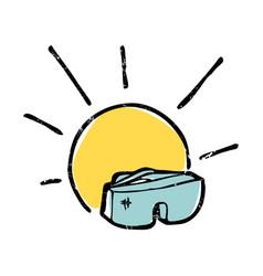 sunglasses and sun symbolic vector image