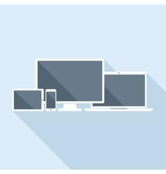 Tablet Laptop Smartphone and Desktop Computer vector image