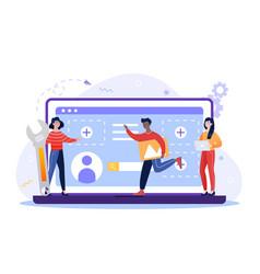 team people vector image