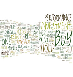 The demise of buy hold text background word cloud vector