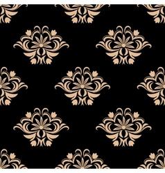 Vintage seamless pattern background vector image