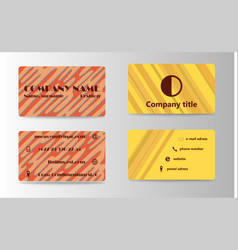 visit card template vector image