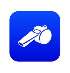 Whistle icon blue vector