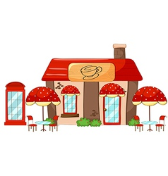 A coffee shop vector image