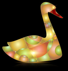 abstract yellow colored bird vector image vector image