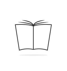 black thin line book logo vector image vector image
