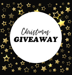 christmas giveaway banner card for social media vector image