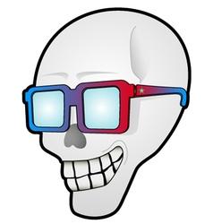 Funny skull head vector image vector image