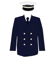 Navy captain uniform vector image