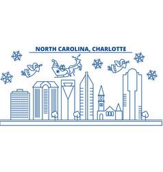 usa north carolina charlotte winter city vector image