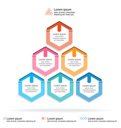 abstract infographics template layered pyramid vector image