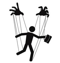 businessman puppet vector image