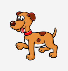 dog or puppy cartoon character vector image vector image