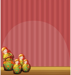 Four figurines vector image