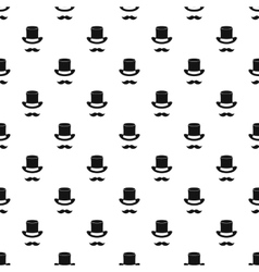 Magic black hat and mustache pattern simple style vector image vector image