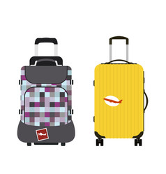 Travel tourism fashion baggage or luggage vacation vector