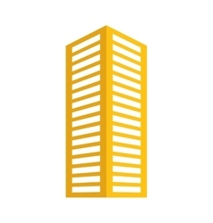 yellow building line sticker image vector image