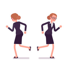 businesswoman in formal wear running front and vector image vector image