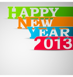 Happy new year paper strips eps10 vector image vector image