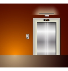 Open and Closed Modern Metal Elevator Doors Hall vector image vector image