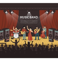 Pop Music Band vector image