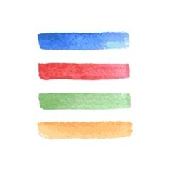 Set of beautiful bright stripes watercolor design vector image
