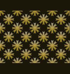 snowflakes seamless pattern christmas background vector image vector image