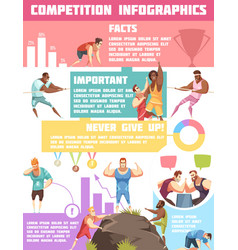 sports tournaments infographic poster vector image vector image