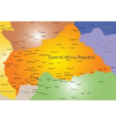 Central Africa Republic vector image