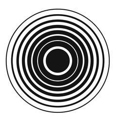 equalizer radio icon simple black style vector image vector image