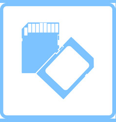 memory card icon vector image