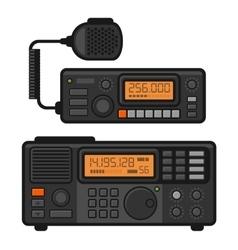 Police car radio transceiver set vector