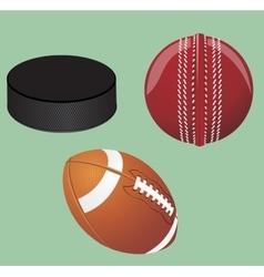 Set of sport equipment vector image vector image