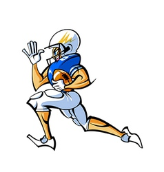 Side view of man holding ball and running vector image