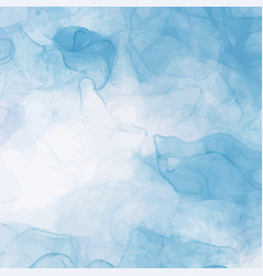 Abstract blue liquid watercolor background pastel vector
