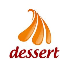Abstract logo orange ice cream vector