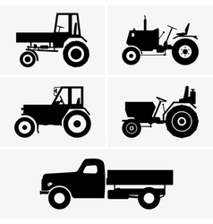 Agricultural vehicle vector image
