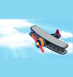 an airplane on sky vector image