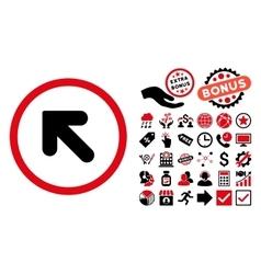 Arrow Up Left Flat Icon with Bonus vector image